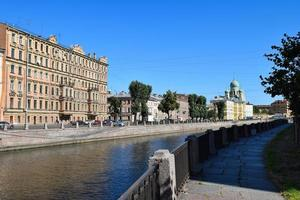 The Griboyedov canal embankment in Leningrad.