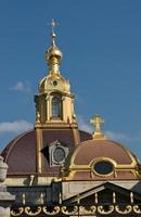 Dome of Peter and Paul cathedral in Saint-Petersburg photo