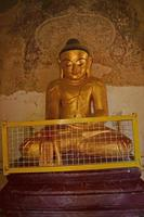 Buddha statue into the temple. Bagan, Myanmar (Burma)