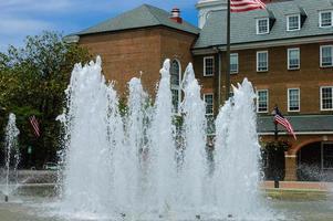 Alexandria city hall fountain