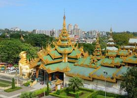 Shwedagon Paya Pagoda, Yangon, Myanmar photo