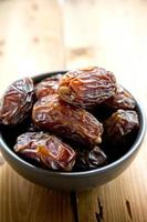 Dates fruit in a bowl photo