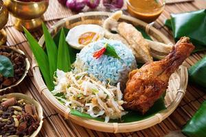 Nasi kerabu or ulam