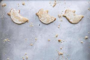 Ghost shaped halloween biscuits photo