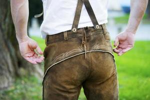 backside of a bavarian man photo