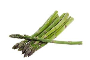 Asparagus spears isolated on white photo