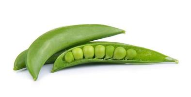 Fresh peas isolated on a white background photo