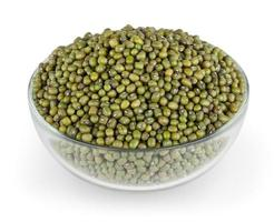 Mung beans isolated on white background with clipping path photo