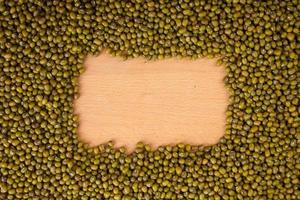Mung beans with rectangular copy space