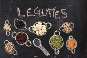 Variety of legumes photo