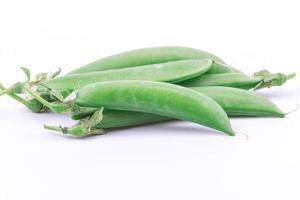 fresh pea on white background photo
