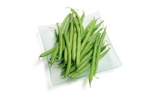 Plate of Green Beans photo