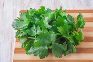 Fresh celery leaves photo