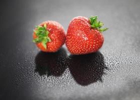 fresas frescas foto