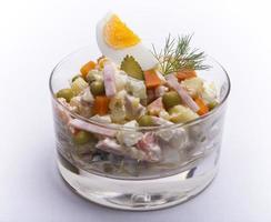 Olivier Russian potato new year salad photo