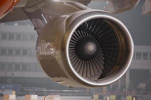 Jet turbine photo