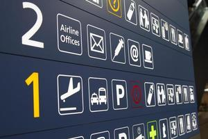 Airport terminal signs