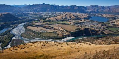 paisaje de nueva zelanda foto