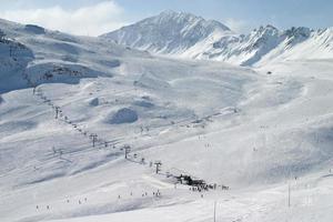 hermoso paisaje de invierno foto