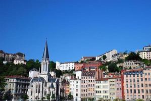 Landscape of Lyon city photo