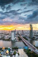 Landscape of Chaophraya river, Bangkok