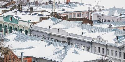 winter roofs photo
