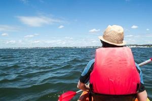 Girl kayaking photo