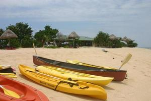 Kayaks on Savala Island