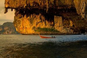 boat over cave