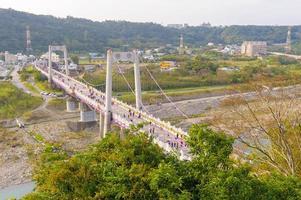 puente levadizo en daxi, taoyuan, taiwán