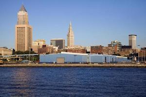 Cleveland gebouwen gezien vanaf het meer