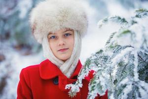 Teenager winter girl photo