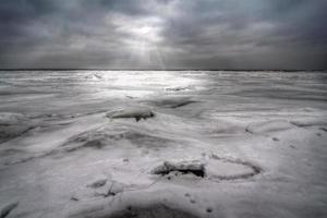invierno en el lago erie