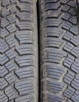 Closeup of winter car tire