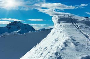 Silvretta Alps winter view (Austria). photo