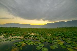 lago de la mañana foto
