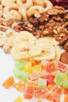 Banana chips with nuts and dried fruit