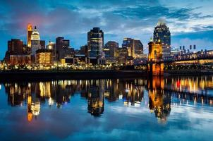 Cincinnati Ohio en la madrugada
