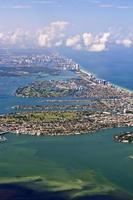 aerial of Miami beach photo
