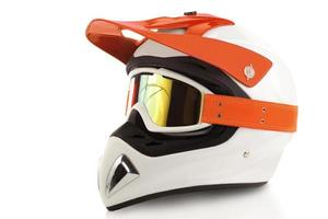 Motocross bike helmet photo