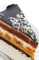 Chocolate banana cheesecake photo