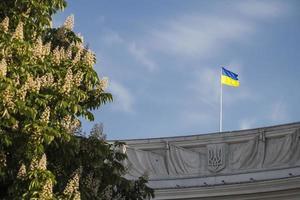 principios de la mañana de verano en kiev foto