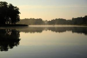Lake in dust photo