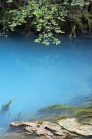 The blue lake.
