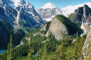 Panorama of Lake Louise from Little Beehive