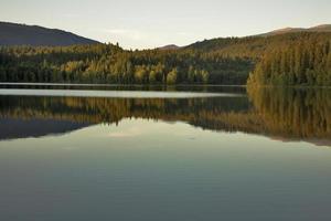 silêncio do lago.