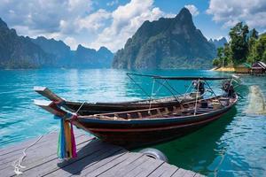 Boat in lake photo