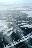 hielo del lago baikal foto