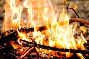 fuego al aire libre