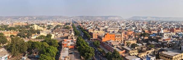 Panorama of Jaipur aerial view Rajasthan, India